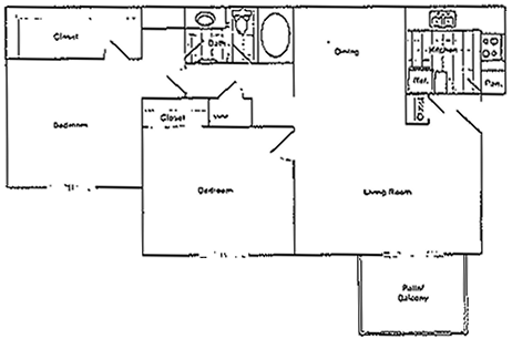 Summit - Two Bedroom / One Bath - 950 Sq. Ft.*